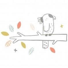 Sticker chambre enfant XL Arbres et oiseau Lilipinso