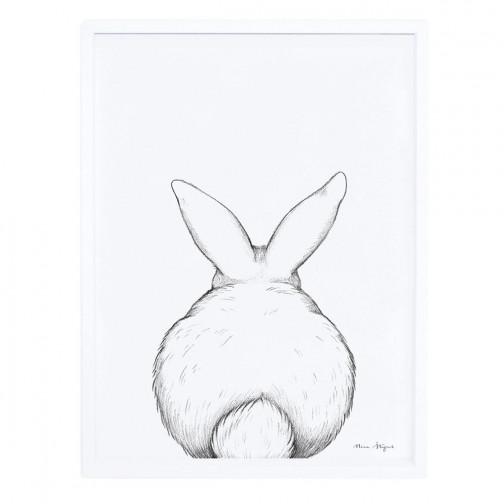 Tableau enfant Affiche encadrée Lapin blanc Lilipinso