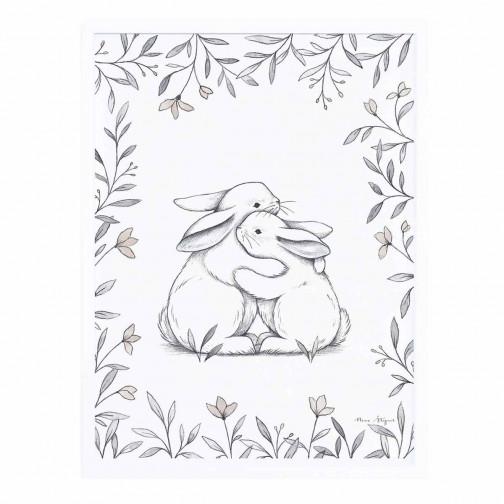 Tableau chambre enfant Affiche encadrée Amour de lapins Lilipinso