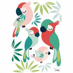 Sticker enfant Perroquets Lilipinso