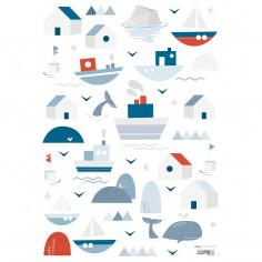 Stickers enfant Bateaux et maisons Lilipinso