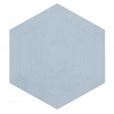Tapis enfant coton Exagonal bleu Lilipinso