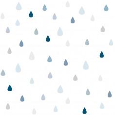Papier peint pour enfant Gouttes d'eau bleu Lilipinso