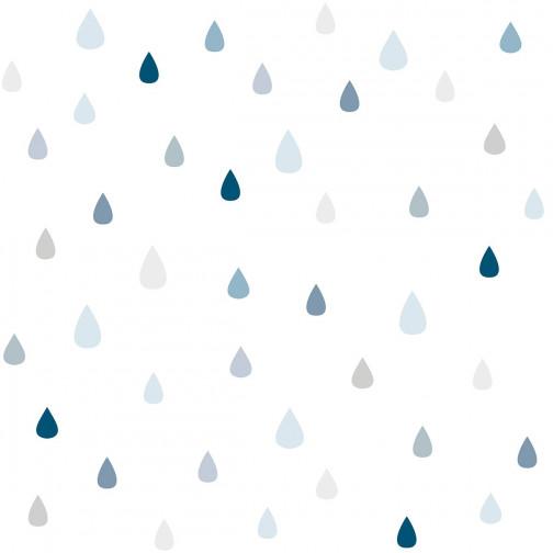 papier peint enfant gouttes d 39 eau bleu lilipinso ma chambramoi. Black Bedroom Furniture Sets. Home Design Ideas