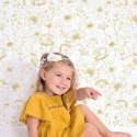 Papier peint pour enfant Fleurs or Lilipinso