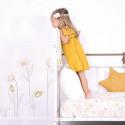 Sticker chambre enfant XL Fleurs sur tiges rose et or Lilipinso