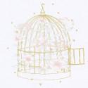 Tableau enfant affiche encadrée Cage à oiseaux fleurie Lilipinso
