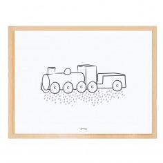 Tableau enfant Affiche encadrée La Locomotive Lilipinso