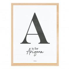 Tableau enfant chambre Affiche encadrée A comme Arizona Lilipinso
