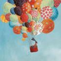 Tableau Affiche encadrée Voyage en ballons Lilipinso