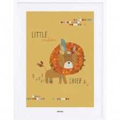 Tableau enfant Affiche encadrée Le Chef Lion Lilipinso
