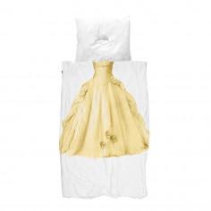 Housse de couette enfant 3D princesse yellow Snurk avec taie