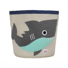 Sac à jouets coton 3 Sprouts Requin