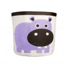Sac à jouets coton 3 Sprouts Hippopotame