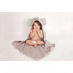 Serviette de bain bébé Ellie l'éléphant Zoocchini