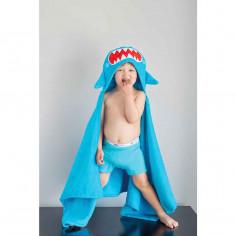 Serviette de bain enfant Sherman le requin Zoocchini
