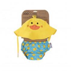 Maillot enfant et chapeau Canard 3-6 mois Zoocchini