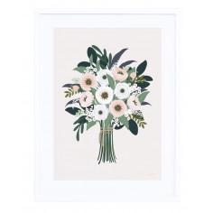 Tableau enfant Affiche encadrée bouquet Lilipinso