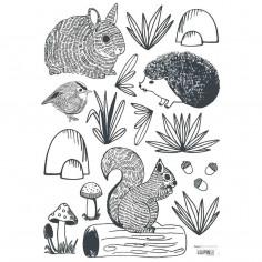 Stickers Enfants animaux de la forêt Lili Lilipinso