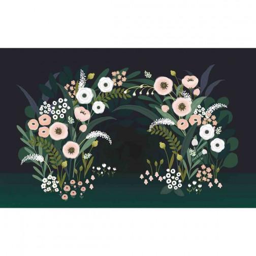 Papier peint enfant grande arche fleurie Lilipinso