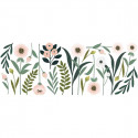 Stickers Enfants XL grandes fleurs rose et beige Lilipinso