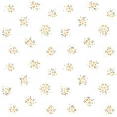 Papier peint enfant motif floral retro Lilipinso