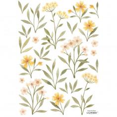 Sticker enfant fleurs orangées jaunes