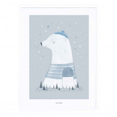 Tableau chambre bébé ours polaire