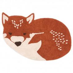 Tapis enfant renard en coton