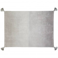 Tapis enfant coton gris