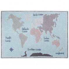 Tapis enfant carte du monde