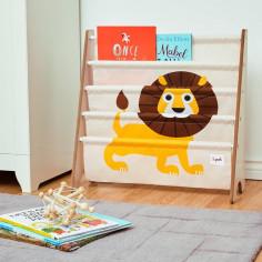 bibliothèque enfant lion