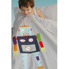 Housse de couette enfant Robot Taftan 140 x 200 cm avec taie