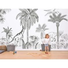 Déco enfant dinosaures papier peint