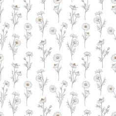 Papier Peint fille Fleurs