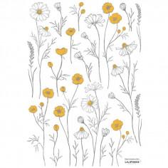 Stickers chambre enfant fleurs