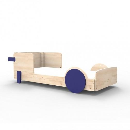 Lit Montessori Bleu atlantique Lit simple