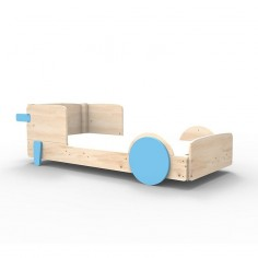 Lit Montessori Bleu Azur Lit simple