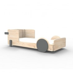 Lit Montessori Gris Basalte Lit simple