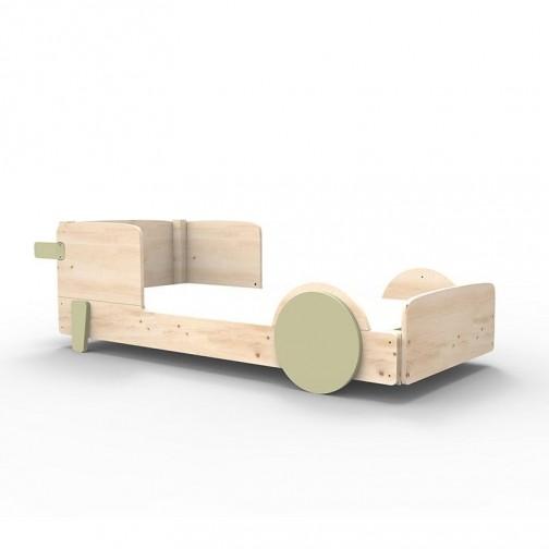 Lit Montessori Gris mousse Lit simple