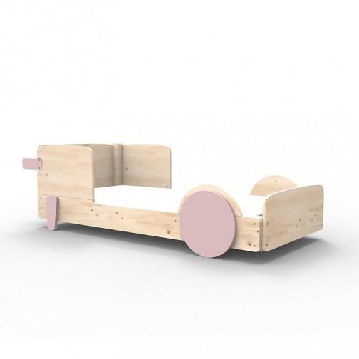 Lit Montessori Rose Hiver Lit simple