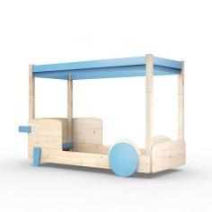 Lit-Montessori-Lit-cabane-bleu-azur-incline