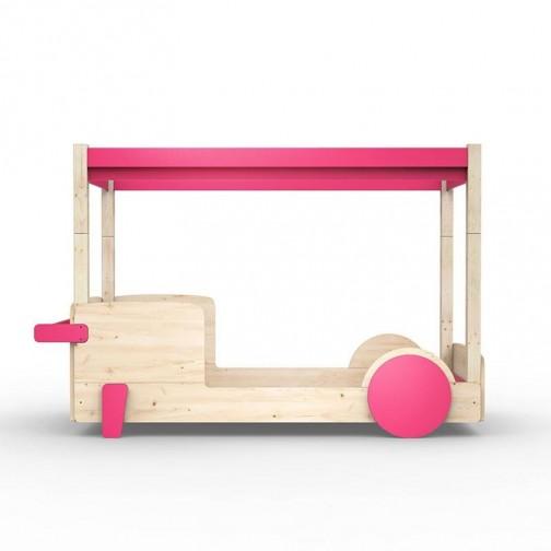 Lit-Montessori-Lit-voiture-rose-ete