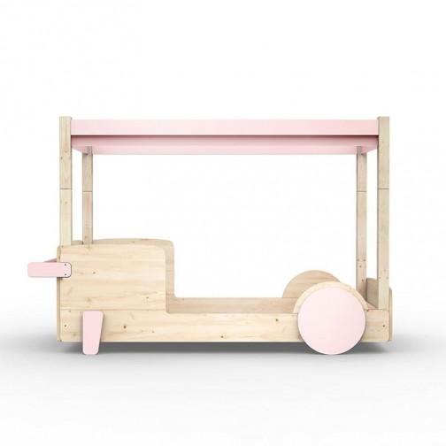 Lit-Montessori-Lit-voiture-rose-poudre