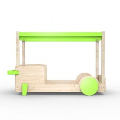 Lit-Montessori-Lit-voiture-vert-pomme