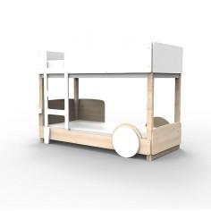 Lit Superposé Montessori Blanc
