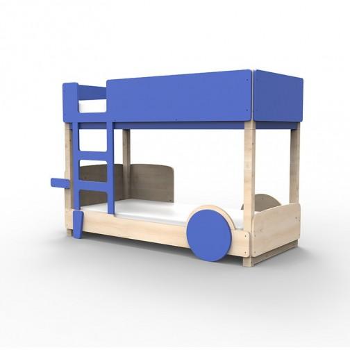 Lit Superposé Montessori bleu marseille