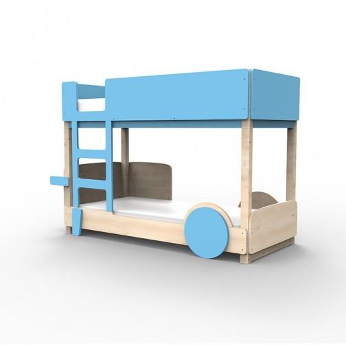 Lit Superposé Montessori bleu azur