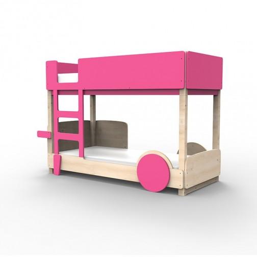 Lit Superposé Montessori rose ete