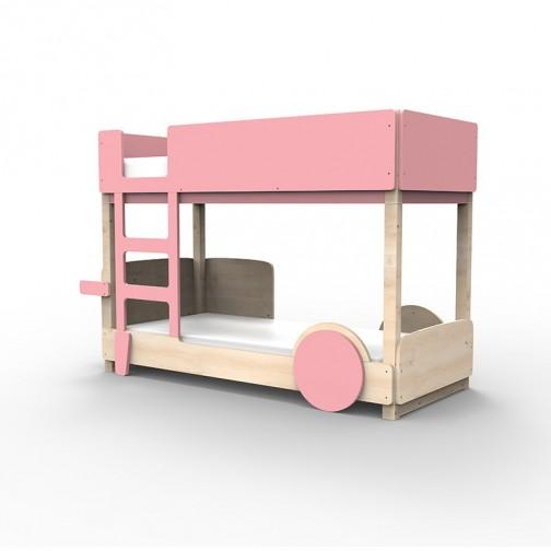 Lit Superposé Montessori rose tres clair